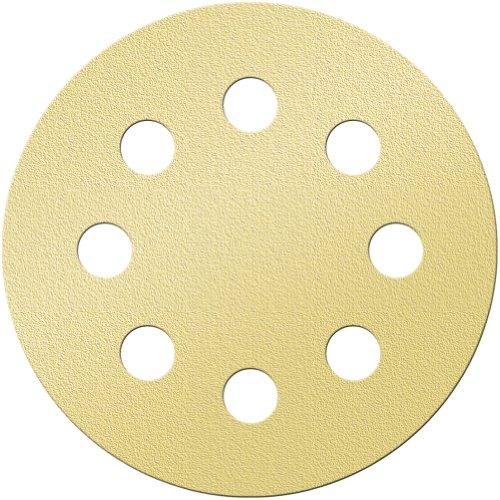 "UPC 847667000192, Platte River 161738, Abrasives, Sanding Discs, Aluminum Oxide, Super Gold, 5"" 8h PSA Aluminum Oxide 150b Sander Disc, 100-pack"