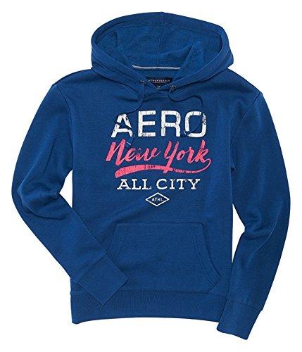 (Aeropostale Womens NY All City Hoodie Sweatshirt, Blue, Large )