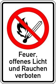 Visera de PVC H.Klar, abierto luz y prohibido fumar Elements ...