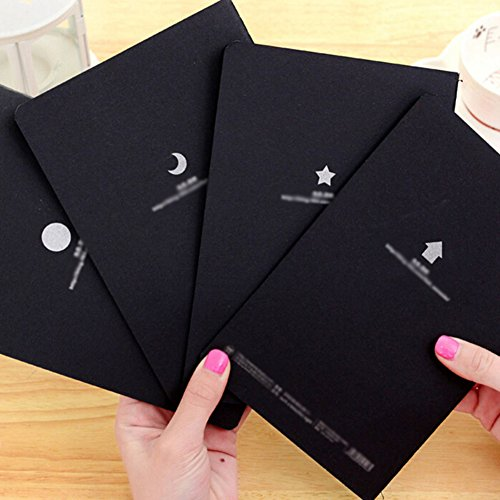 Doodle Art Papers Cards Pad Sketchbook Graffiti Book Diary Sketch Drawing Black Notebook Stationary Gift Blank Drawing Book for Kids and Adults size S by Baost (Image #2)