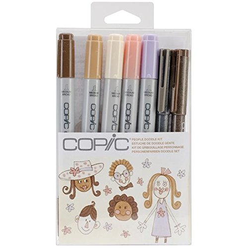 Copic Marker Doodle Kit, People
