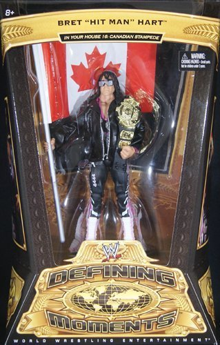 WWE Defining Moments Bret Hart - 1997 Stampede Collector Figure Series #5 by Mattel
