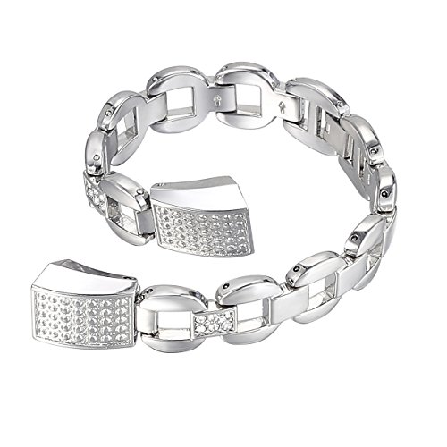 Fitbit bayite Replacement Silver Rhinestone product image