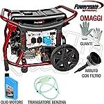 GRUPPO ELETTROGENO POWERMATE WX3200 GENERATORE CORRENTE CON RUOTE BENZINA 51PKe57RE7L. SS150