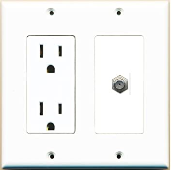 White - Decora - Outlets & Receptacles - Dimmers, Switches ...