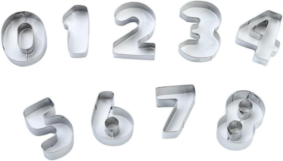Rawdah molde para galletas de símbolo Digital 1 conjunto Digital ...