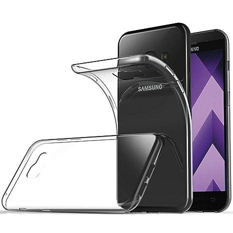 XTCASE Funda Samsung Galaxy A3 2017 A320 Silicona Transparente, Ultrafina Suave TPU Carcasa para Samsung Galaxy A3 2017 Delgado Flexible Protectora ...