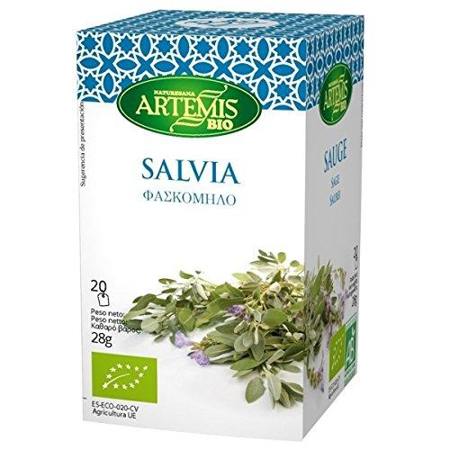 ARTEMIS BIO - SAGE Tea bags - 20 bags x 4 boxes = 80 tea bags by Unknown