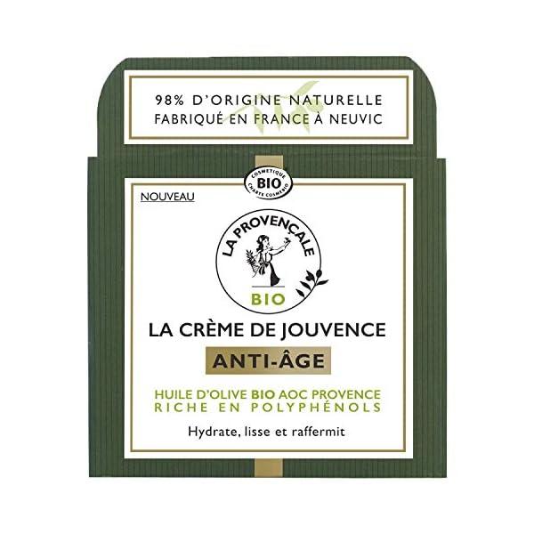 La Provençale – La Crème de Jouvence Anti-Âge – Soin Visage Certifié Bio – Huile d'Olive Bio AOC Provence – Pour Tous…
