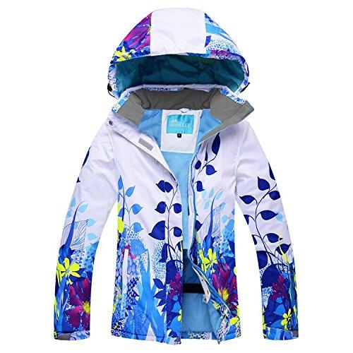 HUA&X Hombres y Mujeres/saco invierno Ski chaqueta impermeable a prueba de viento cálido Zipper