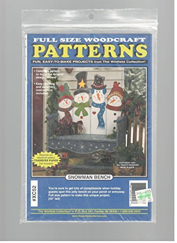 Snowman Bench Woodcraft Pattern - The Winfield Collection - XC52