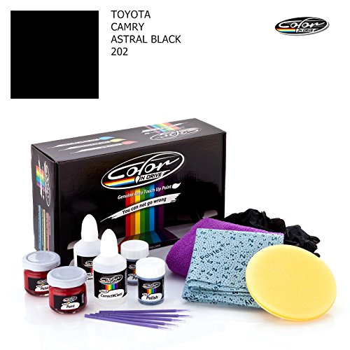 TOYOTA CAMRY / ASTRAL BLACK - 202 / COLOR N DRIVE TOUCH UP PAINT SYSTEM FOR PAINT CHIPS AND SCRATCHES / BASIC PACK