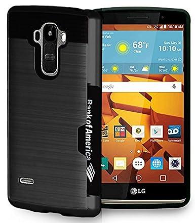 official photos 3c3b4 c3d33 LG G Stylo Case, Black Credit Card Slot Hard Case Cover for LG G Stylo  (LS770, MS631), LG G Vista-2 (H740), LG G4 Stylus (H631, H634, H635)
