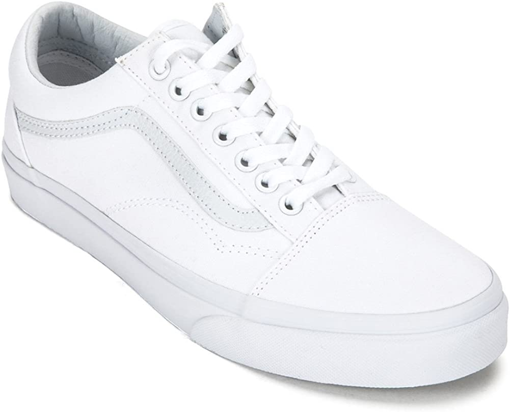 Amazon.com | Vans Old Skool Sneakers True White, VN000D3HW00 ...