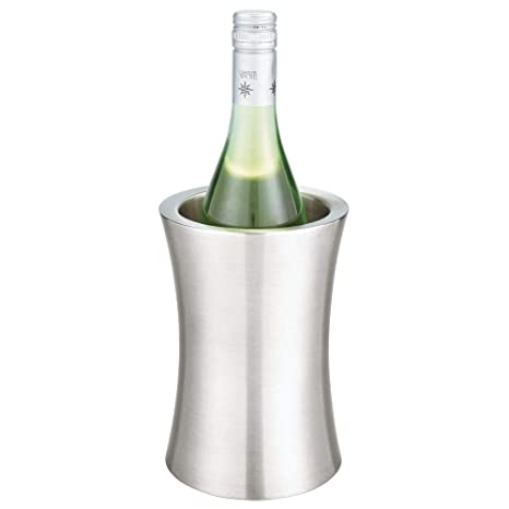 Amazon.com: mDesign - Cubo para botellas de vino (metal ...
