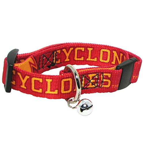 [Hunter NCAA Iowa State Cyclones Cat Collar, Small] (Cyclone Mascot Costumes)