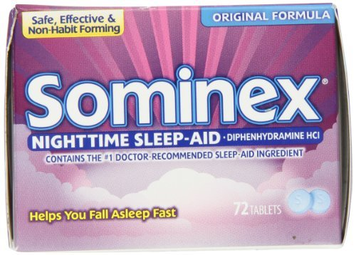 Sominex Original Formula Tablets, 72 Count by Sominex