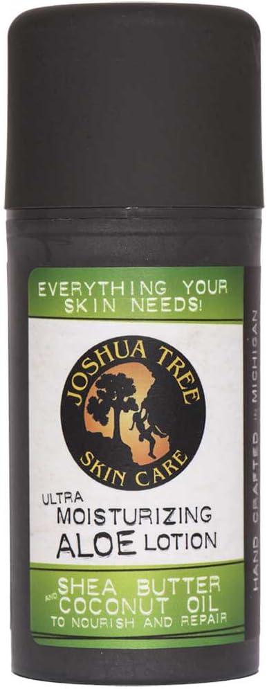 Joshua Tree Natural Ultra Moisturizing Lotion with Organic Aloe/Shea Butter/Coconut Oil, 4 Ounce