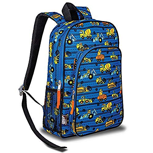 School Backpack Construction - LONECONE Kids' Preschool and Kindergarten Backpack for Boys and Girls, Construction Monsters