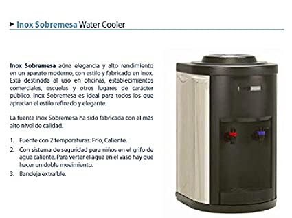 Fuente de agua conexión red con filtración Inox sobremesa (F350+C+F)