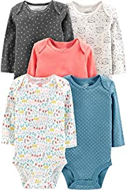 Simple Joys by Carter's Baby-Girls 5-Pack Long-Sleeve Body
