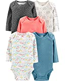 #8: Simple Joys by Carter's Baby Girls 5-Pack Long-Sleeve Bodysuit