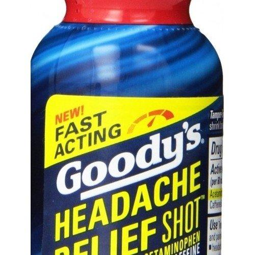 Headache Relief 2 Fl Oz Goody's Shot 9 Pack Berry Acetaminophen Caffeine Long Lasting Reliever