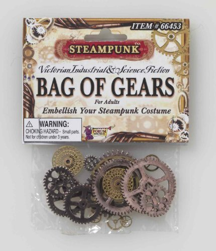 Victorian Costumes For Men (Forum Novelties Men's Steampunk Victorian Bag Of Gears Costume Accessory, Multi Colored, One Size)