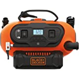 BLACK+DECKER 20V MAX Cordless Tire Inflator, Cordless & Corded Power, Tool Only (BDINF20C)