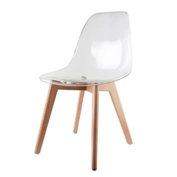 THE HOME DECO FACTORY Decorative The Chair Factory hd3087 Scandinavian Wood 47 5x54x86 cm transparent pack of 2 Amazon.co.uk Kitchen u0026 Home  sc 1 st  Amazon UK & THE HOME DECO FACTORY Decorative The Chair Factory hd3087 ...