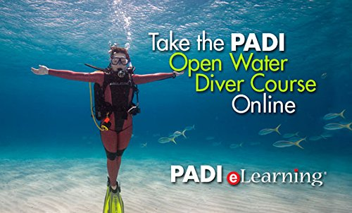PADI Online Open Water Diver Course Scuba Diving eLearning Certification On Line Classroom Dive Books Beginner Class (Padi Open Water)