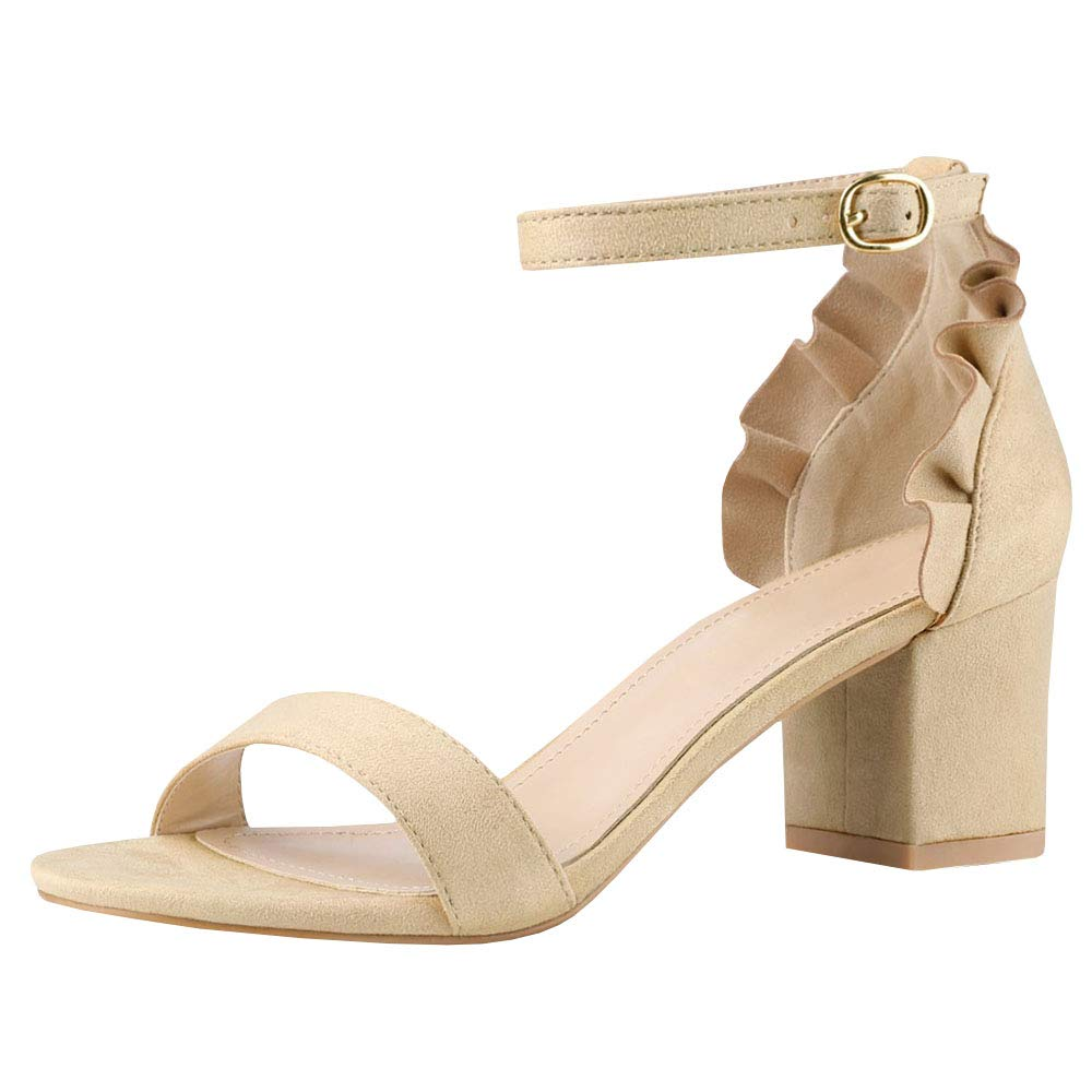 3-nude Womens Flat Sandals Ankle Strap Buckle Flip Flop Gladiator Thong Summer shoes