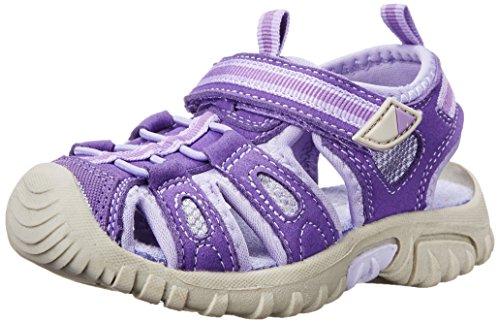 Jumping Jacks Sand Cruiser Dress Sandal (Toddler/Little Kid), Purple Microsuede/Lilac/Purple Trim, 33 EU (1-1.5 M US Little Kid)