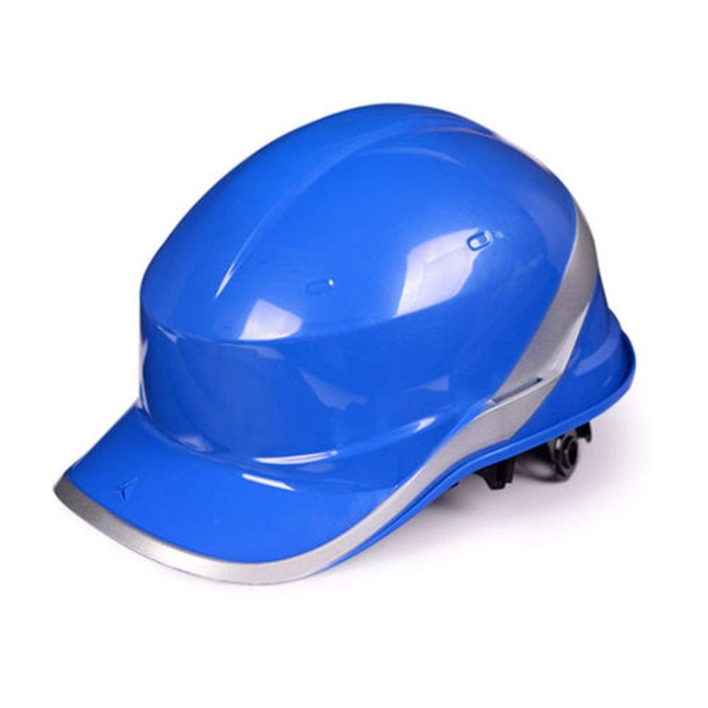 FEI JI Hard Hats - High Strength ABS Helmet Construction Site Leadership Flood Control Construction Safety Helmet - Head Protection Equipment - (4 Colors) Safety Accessories (Color : Blue)