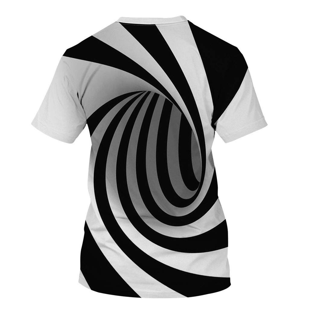 Women Men 3D Print Tees Tops Unisex Short Sleeve T Shirts Casual O Neck Tees Tops Funny Print Blouse Shirts Tops