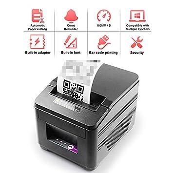 TANCEQI Mini Impresora térmica de Alta Velocidad Directa de ...