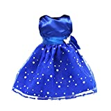 Fashion Sequins Sleeveless Party Dress for 18 Inch AG American Girl Dolls Blue