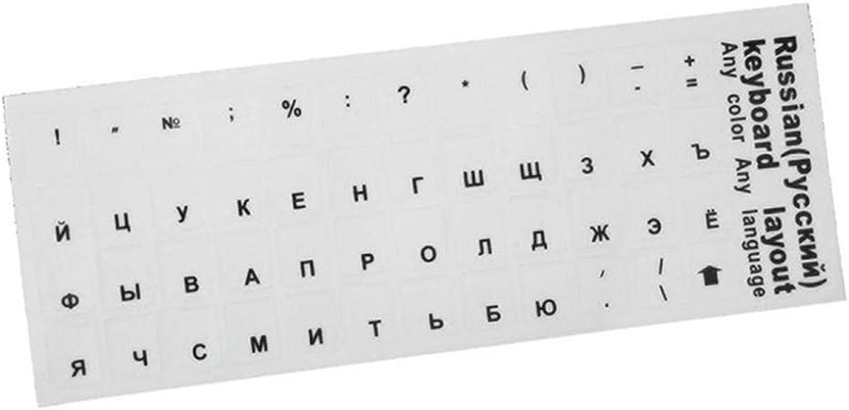 Dengofng Pegatina para teclado ruso con letras del alfabeto ...