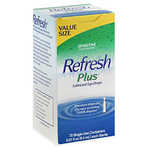 - Allergan Refresh Plus Lubricant Eye Drops, Value Size, 70 ct.