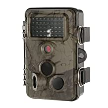 """Lixada Game and Trail Camera 12MP HD 1080P 120 Degree Wide Angle Infrared IR Night Vision 2.4"""" LCD Scouting Surveillance Camera Support WiFi Card"""