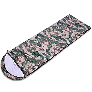 DMGF Camping Sleeping Bag Envelope Mummy Digital Camo Lightweight Comfort For 4 Season Camping Traveling Backpacking Hiking