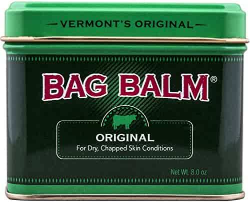 Vermont's Original Bag Balm Animal Ointment, 8 Ounce Tin, for Dry Chapped Skin Conditions Lanolin-Based Helps Keep Skin Smooth and Soft