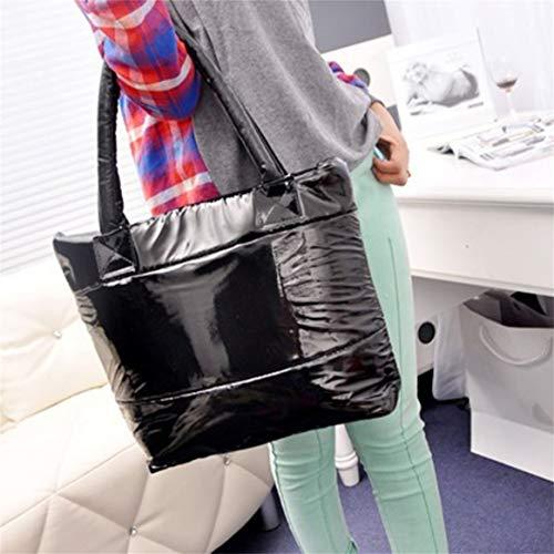para con capacidad de Bolsa mujer gran espacio de algodón hombro bolsillos acolchados de de para mano de esponja Bolsos mujer Bolsas de de bolsas qagxHw6q