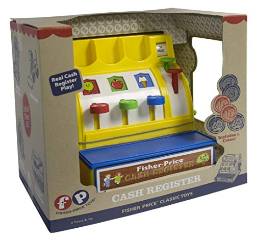 51PKkkcj8wL - Fisher-Price Classic Toys - Retro Cash Register - Great Gift for Girls and Boys - Best for Babies and Toddlers 18 Months to 2 Years Old