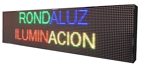 CARTEL LED PROGRAMABLE LETRERO LED PROGRAMABLE (128 * 32 cm, RGB) PANTALLA LED PROGRAMABLE ROTULO LED PROGRAMABLE CARTEL ELECTRÓNICO ANUNCIA TU ...