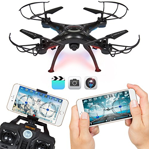 BCP 4 Channel 6-Axis Gyro Headless Remote Control Quadcopter FPV RC Drone With Wifi Camera For Real Time Video, 2 Control Modes