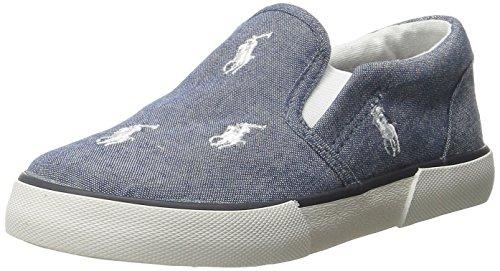 Polo Ralph Lauren Kids Bal Harbour Fashion Sneaker (Toddler/Little Kid), Light Blue/White, 4 M US Toddler (Ralph Lauren Loafers Baby)