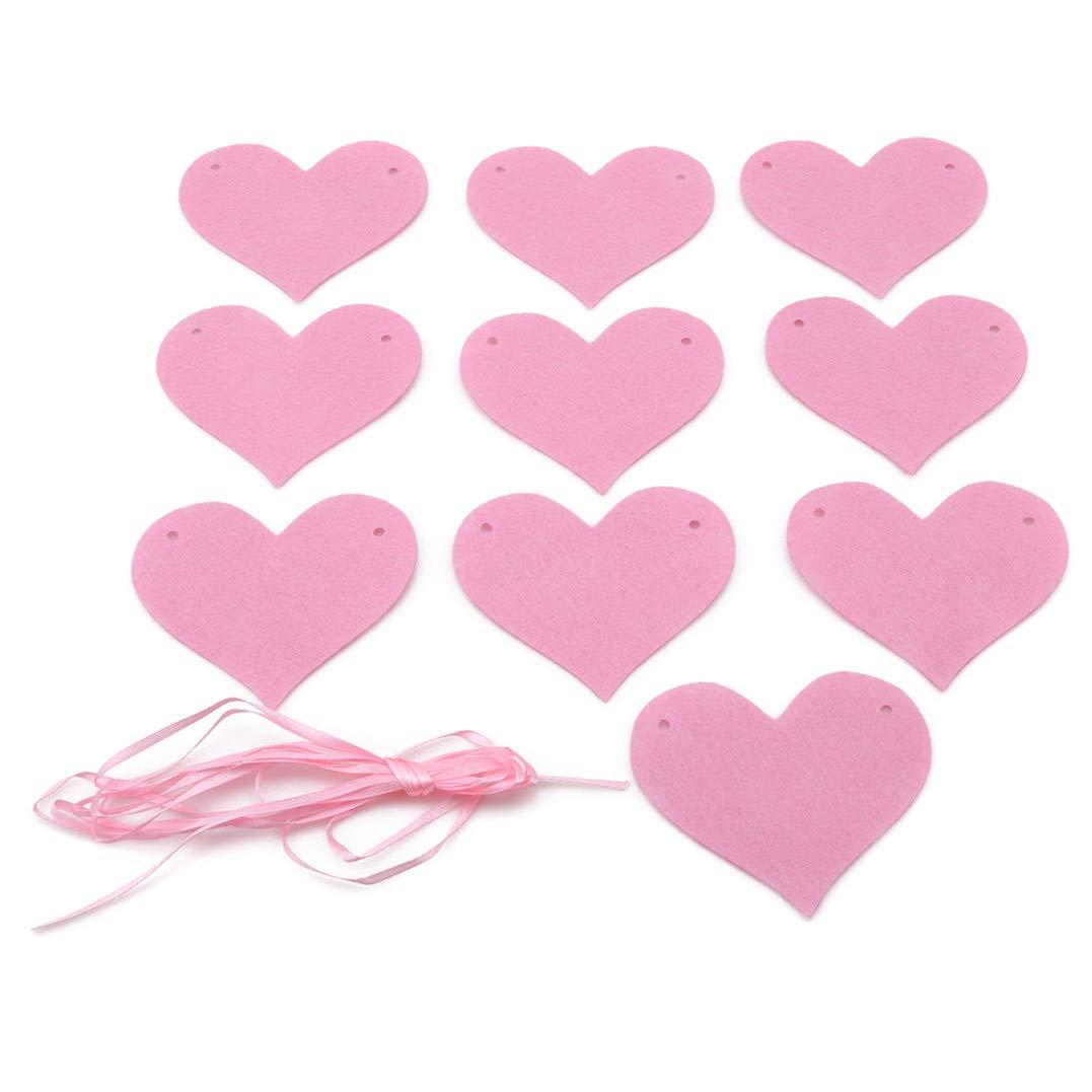 Rose Weryffe Feutre Coeur Bunting Banni/ère De Mariage Bruant Drapeaux Vintage Party B/éb/éshow Guirlande D/écoration D/écor/àla Maison
