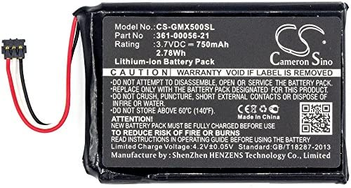 Driveluxe 50 LMTHD 750mAh Battery Replacement for Garmin 010-01531-00 P//N 361-00056-21