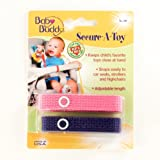 Baby Buddy Secure-A-Toy 2Ct Pink-Purple (Pack Of 24)